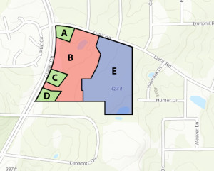 Map of proposed development